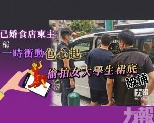 偷拍女大學生裙底被捕