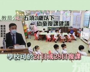 學校可於21日或28日復課