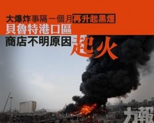 貝魯特港口區商店不明原因起火