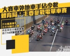 體育局:主要參戰電單車賽