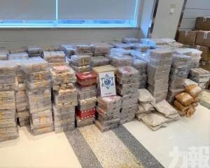 截獲1,500萬元燕窩及奶粉等物品