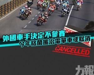 今屆大賽車或取消電單車賽事