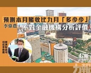李偉農:不對金融機構分析評價