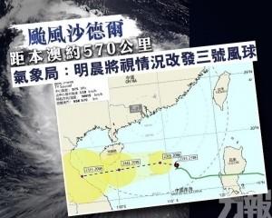 氣象局:明晨將視情況改發三號風球
