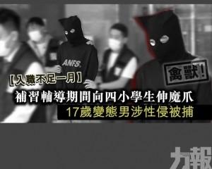 17歲變態男學生涉性侵 認罪被捕