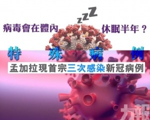 孟加拉現首宗三次感染新冠病例