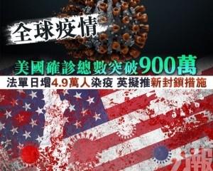 法單日增4.9萬人染疫 英擬推新封鎖措施