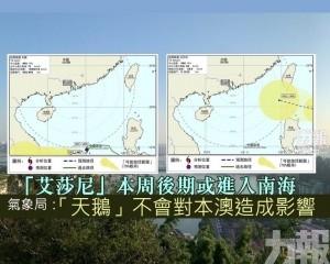 氣象局:「天鵝」不會對本澳造成影響