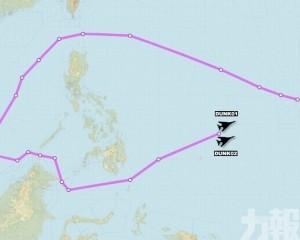美軍2架轟炸機繞行南海一圈