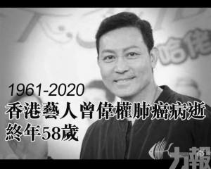 香港藝人曾偉權肺癌病逝 終年58歲