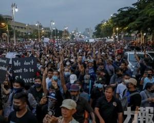 曼谷續有反政府示威
