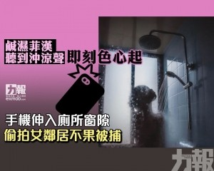 手機伸入廁所窗隙 偷拍女鄰居不果被捕
