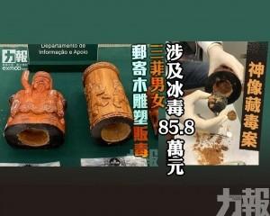三菲男女郵寄木雕塑販毒