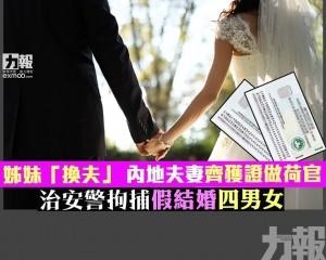治安警拘捕假結婚四男女