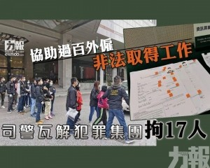 司警瓦解犯罪集團拘17人