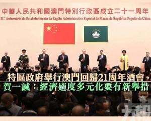 賀一誠:經濟適度多元化要有新舉措