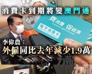 李偉農:外僱同比去年減少1.9萬
