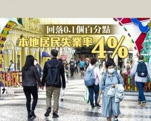 本地居民失業率4%