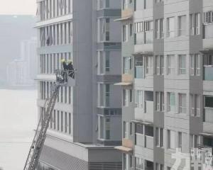 消防升雲梯檢查大廈外牆
