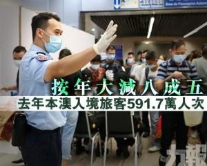 去年本澳入境旅客591.7萬人次