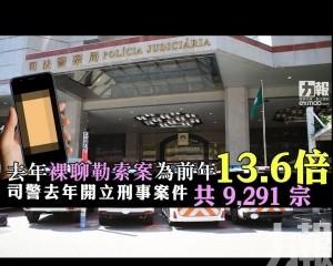 司警去年開立刑事案件共 9,291 宗