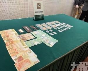 司警檢值七萬毒品毒資