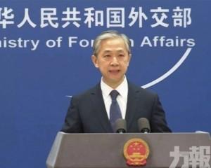 外交部:勿做有損雙邊政治互信的事
