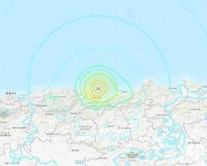 阿爾及利亞北部海域5.8級地震