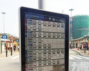 巴士站太陽能電子站牌升級