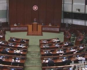港選舉條例草案提交立法會首讀及二讀
