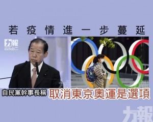 自民黨幹事長稱取消東京奧運是選項