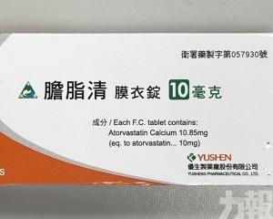 衛生局回收一款降膽固醇藥物