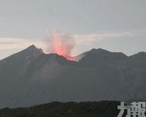 日本櫻島火山大規模噴發