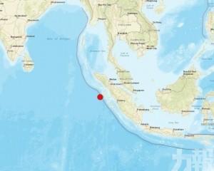 印尼北蘇門答臘省西部海域發生7.2級地震