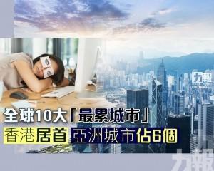 香港居首 亞洲城市佔6個