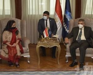 蘇彝士運河管理局與印度外交團會談