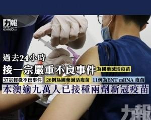 本澳逾九萬人已接種兩劑新冠疫苗