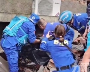 鄭州四個月大女嬰獲救