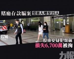 股東女疑犯聲稱損失6,700萬被拘