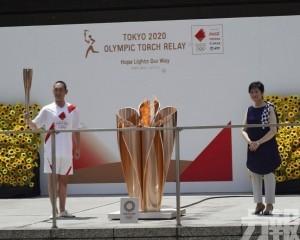 奧運聖火抵達終點站