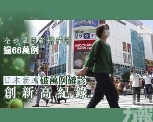 日本新增破萬例確診 創新高紀錄
