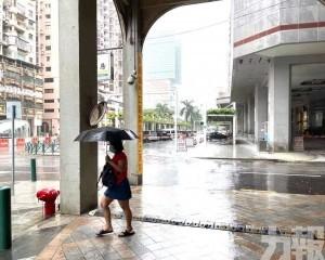 東亞運站錄得近80毫米雨量