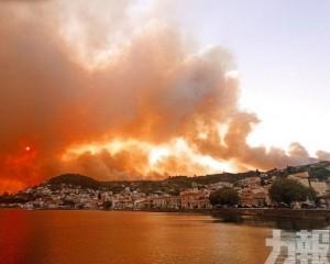 希臘山火連燒五日未撲滅