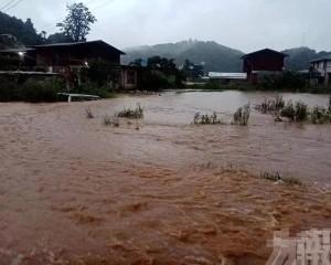 緬甸中部暴雨引發洪水及山泥傾瀉