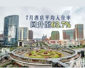 7月酒店平均入住率回升至63.7%