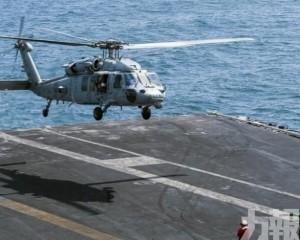 美直升機從航母起飛訓練時墜海