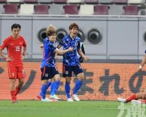 中國國足0:1憾負日本隊