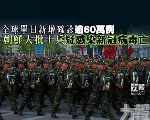 朝鮮大批士兵疑感染新冠病毒亡