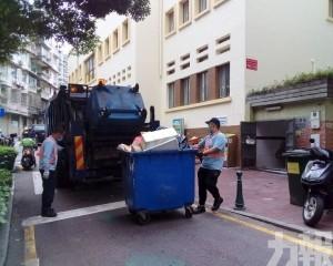 呼籲市民暫存垃圾在家中