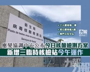新增三臨時核檢站今午運作